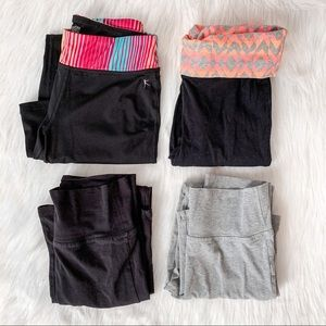Bundle of 4 Pairs of Girls Yoga Leggings